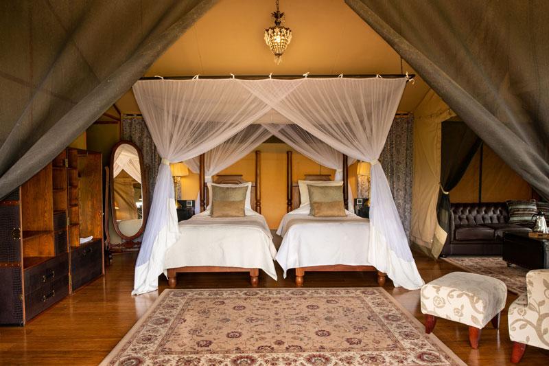 Explore_Elewana-Sand-River-Luxury-Tent-interior-twin